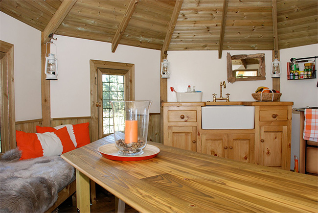 Luxury treehouse glamping experience in scotland review for Luxury kitchens scotland