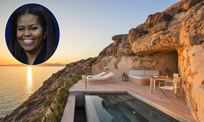 michelle obama 39 s solo mallorca holiday see where she dined. Black Bedroom Furniture Sets. Home Design Ideas