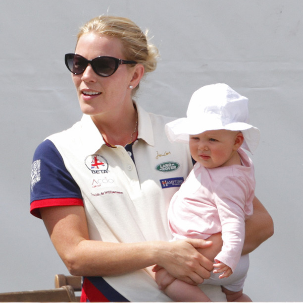 Mia was pretty in pink at the Festival of British Eventing with her aunt, Autumn Phillips. 