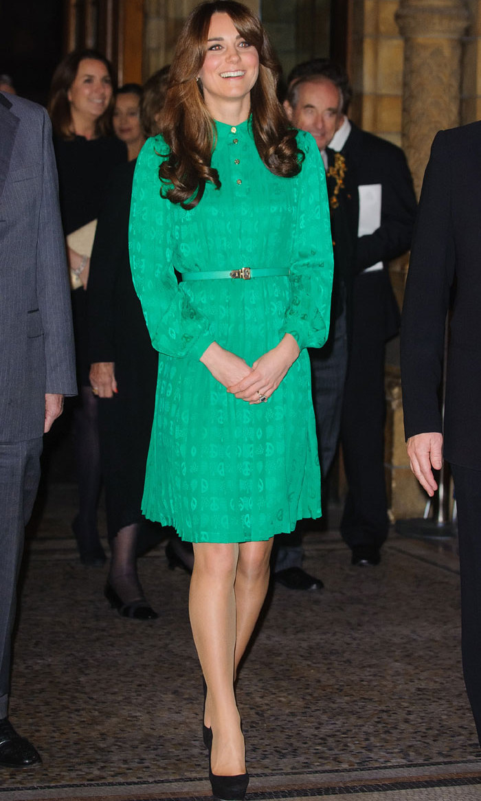 <p>The duchess looked like a treasure herself at the opening of the London National History Museum's Treasures gallery back in 2012.