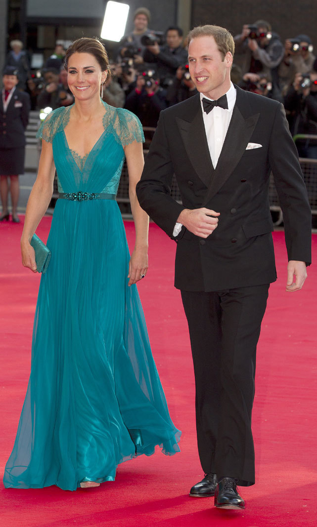 <p>The Duke and Duchess of Cambridge could pass for <em>James Bond</em> and his latest Bond Girl at a concert gala at the Royal Albert Hall ahead of the 2012 London Olympic Games. The flowy teal dress suited Kate perfectly.