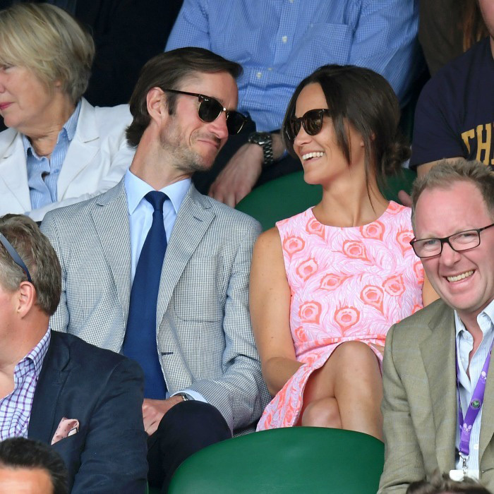<p>Pippa Middleton and James Matthews have been an item long before their public debut at Wimbledon and engagement announcement on July 19.
