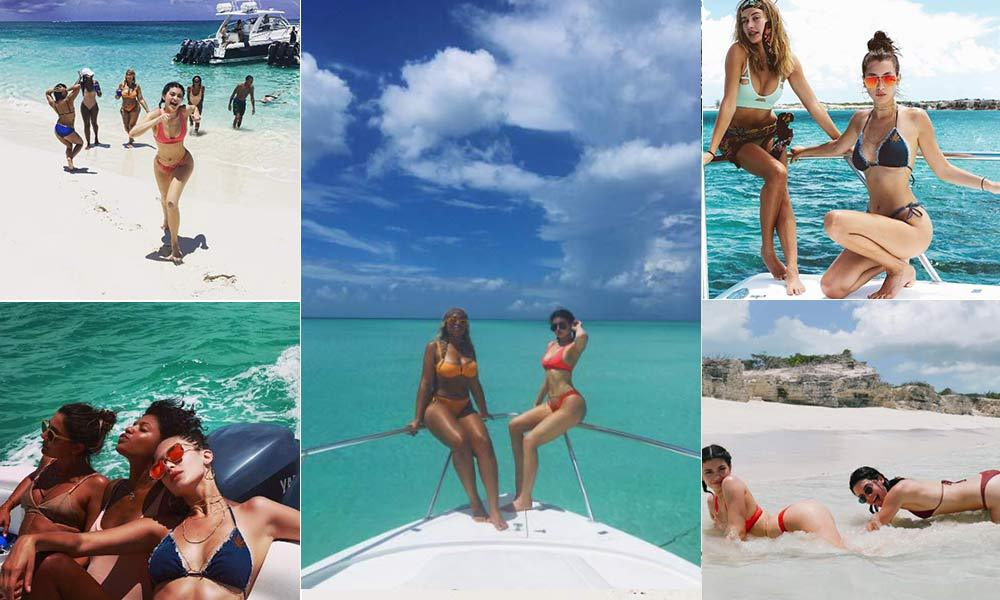 Kylie Jenner turns 19 and jets to Turks and Caicos for ... Kim Cattrall Instagram