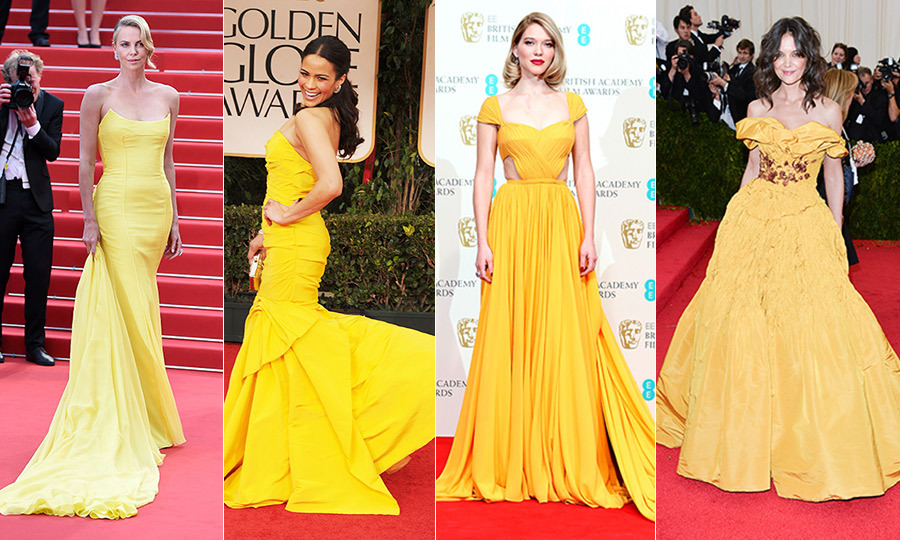 Happy <em>Beauty and the Beast</em> opening weekend! The Disney live-action reboot is finally in theatres and to celebrate we're looking back at some celebs who have worn golden gowns just like Belle. From Alicia Vikander's embellished frock at the 2016 Oscars to Samira Wiley's mermaid dress at the 2014 Emmys, here are some of the best and brightest yellow ball gowns that have graced the red carpet. -- <em>By: Erinn Stewart and Sienna Vautour, FLARE</em>