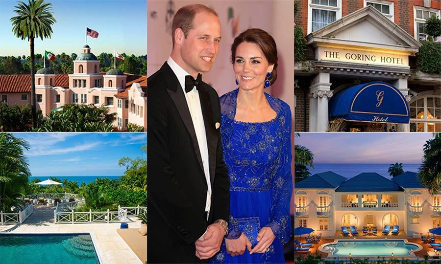 "<p>The <strong><a href=""/tags/0/british-royals/"">British Royals</a></strong> travel the world each year to carry out official duties and establish relationships in destinations as far-flung as India, Singapore and the United States – with a huge 65 royal tours carried out in 2016/2017 alone. As you may expect, the royals stay in only the finest suites during their travels, and now have a number of favourite hotels that they return to time and time again. From the remote Kenyan lodge where <strong><a href=""/tags/0/prince-william/"">Prince William</a></strong> proposed to then girlfriend Kate in 2010 to <strong><a href=""/tags/0/queen-elizabeth-ii/"">the Queen</a></strong> and Prince Philip's favourite Caribbean retreat, we've rounded up ten of the royal family's favourite hotels from over the years.</p>
