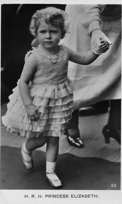 The princess in a party dress in 1930.