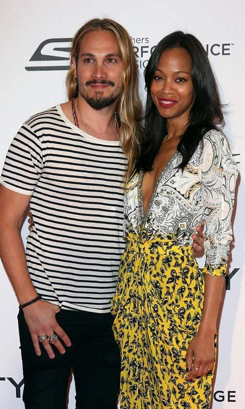 Zoe Saldana and Marco Perego <BR>