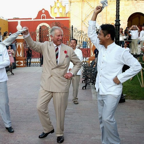 While in Mexico in November 2014, Prince Charles took part in a traditional Mexican clog dance.