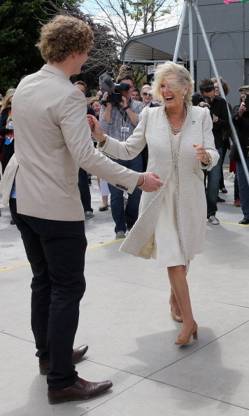 The Duchess of Cornwall got in on the fun, too, during the visit.