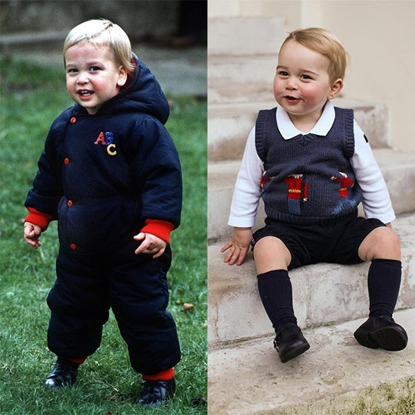 Prince George Looks Just Like Dad Prince William's Twin In
