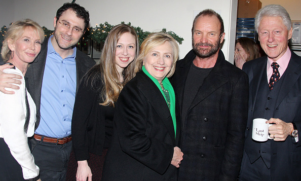 Bill Hillary And Chelsea Clinton Hit Broadway To See