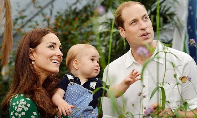 Britain's royal family released a third set of official photos to mark Prince George's first birthday on July 22. In the super-sweet snaps, the royal couple can be seen looking on happily as their son explores a butterfly exhibition at London's Natural History Museum.