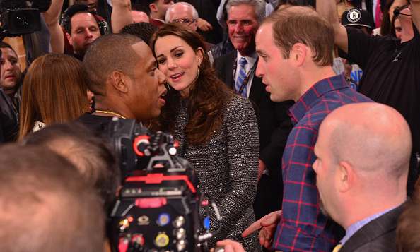 "<a href=""http://us.hellomagazine.com/tags/1/jay-z/""><strong>Jay Z</strong></a>and Beyonce got caught up with William and Kate when the couple attended a Brooklyn Nets - Cleveland Cavaliers game in December 2014.
