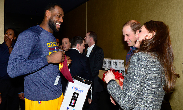 Lebron James seemed genuinely stoked for his December 2014 photo-op with William and Kate at Brooklyn's Barclays Center.