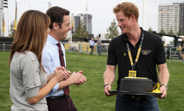 Prince Harry's cake matched his shirt at an Invictus Games event in London in September 2014. 