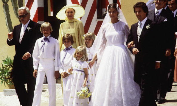 Princess Caroline wed first husband, financier Philippe Junot, on June 28, 1978, in Monte Carlo. They divorced in October 1980.