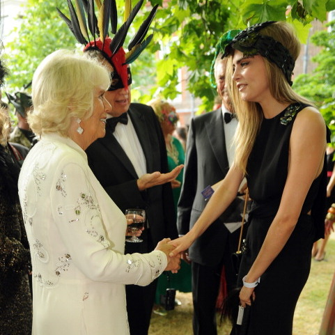 "<a href=""http://us.hellomagazine.com/tags/1cara-delevigne/""><strong>Cara Delevigne</strong></a> shook hands with <a href=""http://us.hellomagazine.com/tags/1/camilla/""><strong>Camilla</strong></a>at an event to save elephants in the summer of 2013.