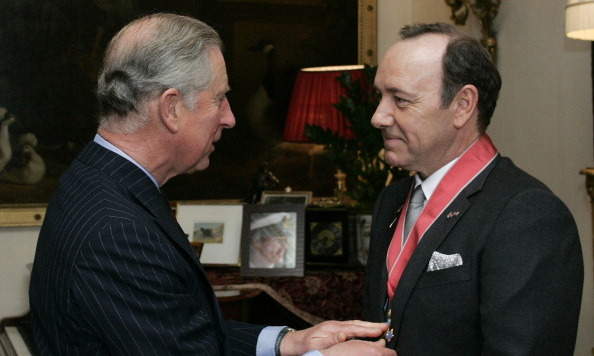 "<a href=""http://us.hellomagazine.com/tags/1/kevin-spacey/""><strong>Kevin Spacey</strong></a> was awarded an honorary CBE (Commander of the British Empire) medal for services to drama by Prince Charles in 2010.