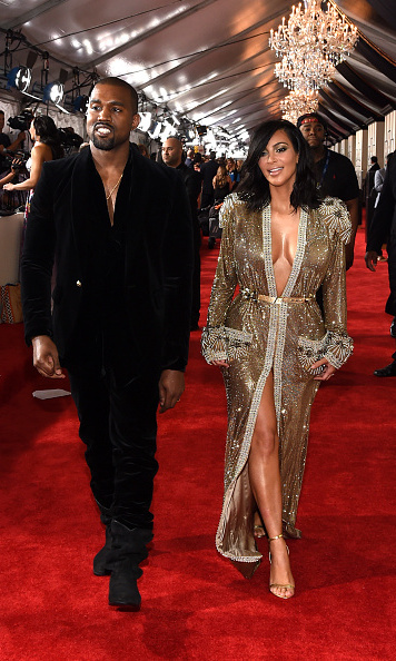 Kanye West and Kim Kardashian in Jean Paul Gaultier