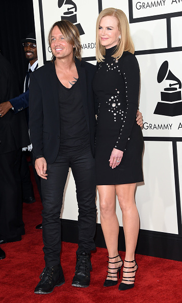 Keith Urban with wife Nicole Kidman in Thierry Mugler