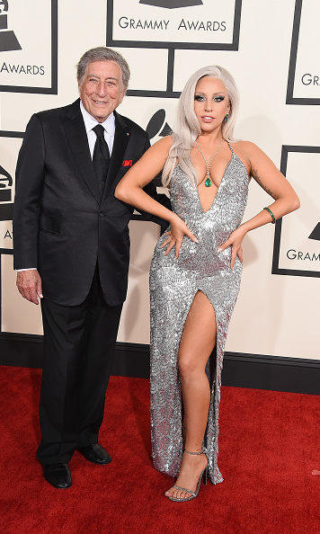 Tony Benett with Lady Gaga in Brandon Maxwell
