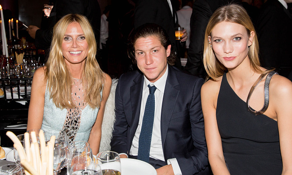 Heidi Klum with boyfriend Vito Schnabel and Karlie Kloss