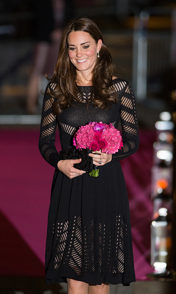 Prince William's wife showed off her risque side in this black cut out Temperley London dress as she attended Action On Addiction event on October 23. 