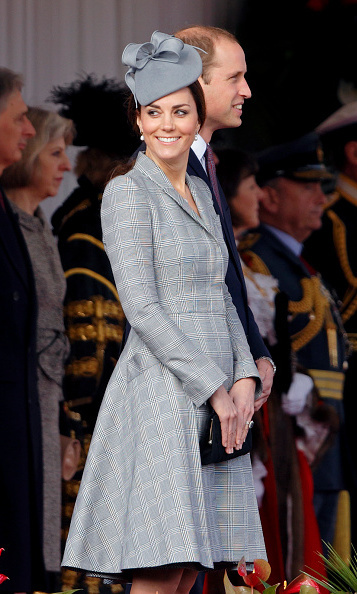 The Duchess made her first appearance on October 21 since announcing her second pregnancy and suffering from hyperemesis gravidarum during her first trimester. She stepped out in a grey Alexander McQueen dress and matching fascinator. 