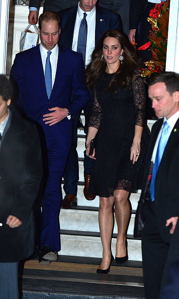 Just one hour after arriving in New York City, Prince William's wife stepped out in a Beulah lace dress, black Stuart Weitzman heels and a Mulberry clutch to attend a private event for the American Friends of The Royal Foundation on December 7. 