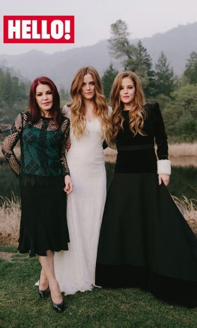 celebrities exclusive first look riley keough wedding dress