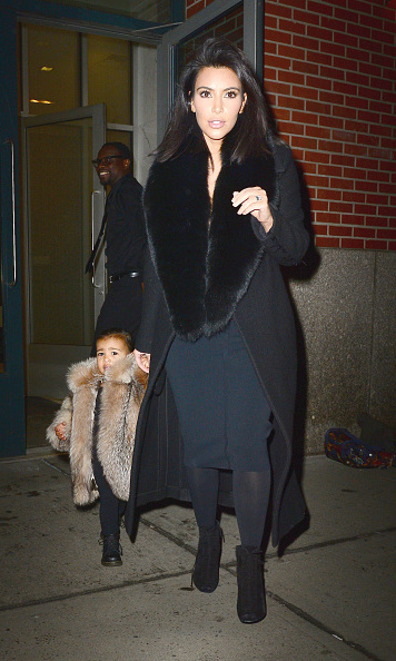 Kim and North were seen walking in Soho on February 11 in New York City. 