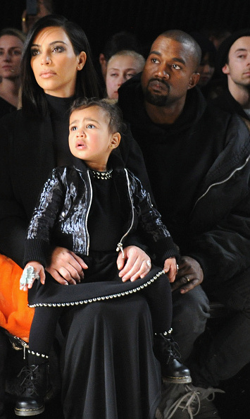 North got to wear a custom outfit by designer Alexander Wang for his show on February 14. 