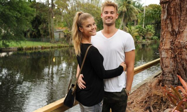 March 8: Sports Illustrated model Nina Agdal spent the day with boyfriend Reid Heidenry at The Little Farm House in Miami's Little Haiti.