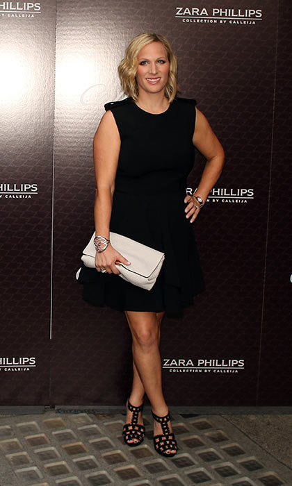 zara tindall stuns in lbd at launch of her calleija
