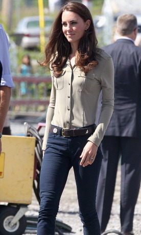 Kate kept it casual while touring Canada.