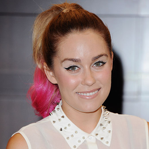 "<a href=""http://us.hellomagazine.com/tags/1/lauren-conrad/""><strong>Lauren Conrad</strong></a> dip-dyed the ends of her hair with a bright pink color, a fun surprise to her otherwise natural overall look. 