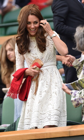 In 2014, Kate sported a delicate, detailed dress by the Australian designer Zimmermann. She acquired the pretty piece on her visit to Australia earlier that year. 