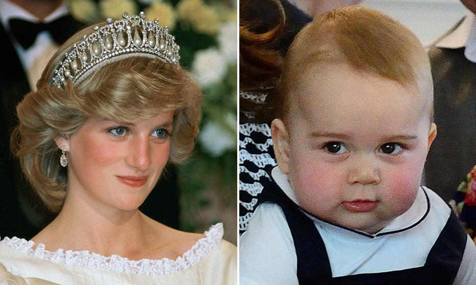 It appears George has inherited his late grandmother's charming rosy cheeks. 