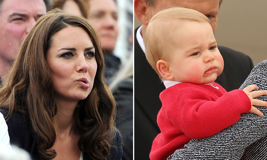 George does his best impression of mom Kate during the family's tour to New Zealand and Australia in 2014. 
