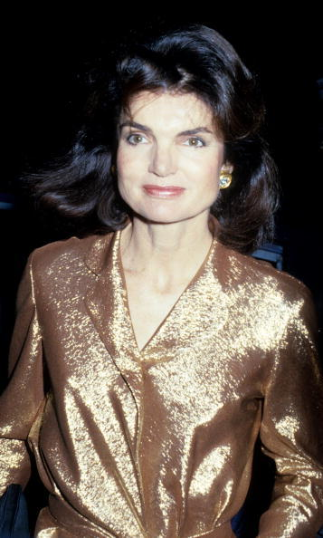 The bold former First Lady dons a gold outfit during the disco era.