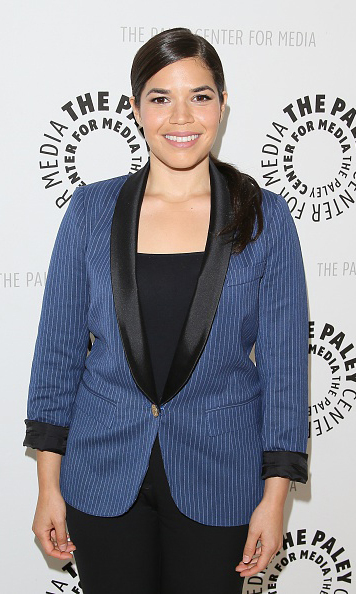 July 28: America Ferrera was all smiles during the 'The Next MacGyver' pitch event. 