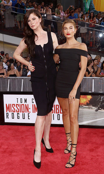 July 27: Ireland and Hailey Baldwin sizzled on the 'Mission Impossible: Rouge Nation' red carpet. 