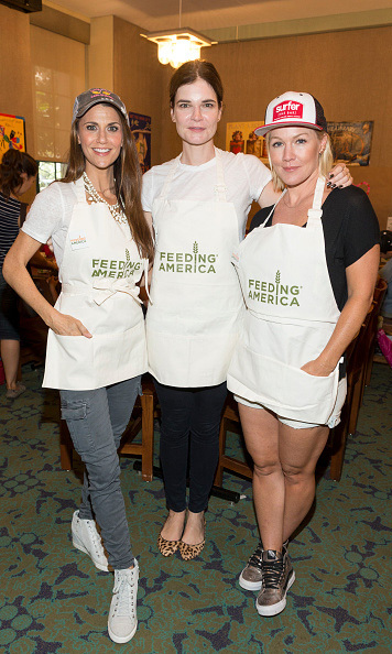 "July 27: Jennie Garth, Betsy Brandt and Samantha Harris gave back during the ""Say No to Summer Hunger"" event in Los Angeles. 