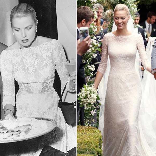 Royal watchers were quick to note that Beatrice's dress was reminiscent of one worn by another style icon of her time, Grace Kelly, pictured here in 1955, who would have been her grandmother-in-law. The late American actress was married to Prince Rainier III, but sadly passed away in Monte Carlo in 1982. Grace was the epitome of elegance during her time – not dissimilar to 29-year-old Beatrice.