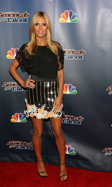 August 12: Heidi Klum struck a pose during the 'America's Got Talent' post-show party in New York City.