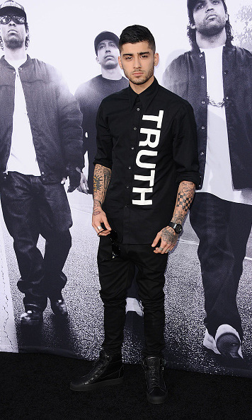 August 10: Zayn Malik took a break from the studio to hit up the 'Straight Outta Compton' premiere in Los Angeles. 