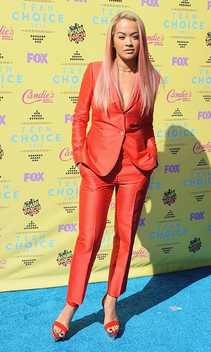 Rita Ora rocked a Max Mara pantsuit.