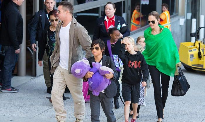 Brad on the noisy Jolie-Pitt clan: