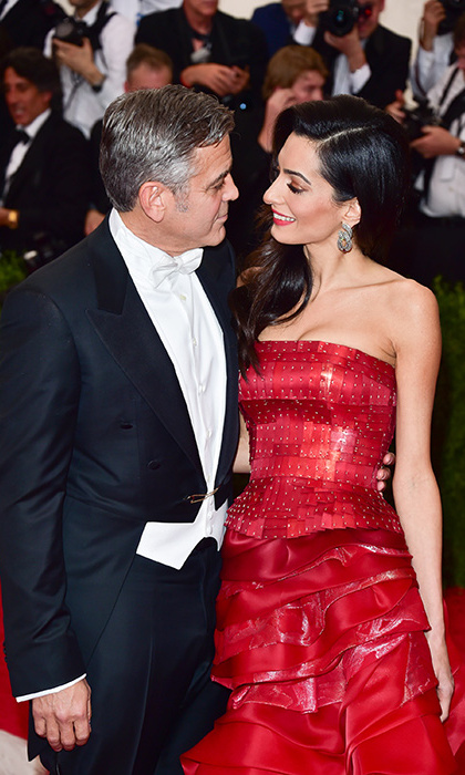 It was the surprise announcement of the year in 2014 when then 54-year-old George Clooney, known as one of Hollywood's most dedicated bachelors, said he was finally ready to settle down. The lucky lady? Gorgeous and talented international human rights lawyer Amal Alamuddin. The pair married in Venice that fall and less than three years later, in June 2017, became parents to twins Ella and Alexander.