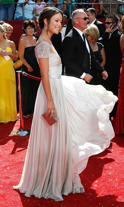 Straight out of a fairytale, Olivia Wilde stunned in a Reem Acra dress at the Emmy awards in 2008.  